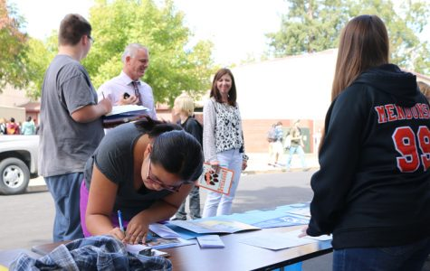 PHOTO: AVID hosts college fair on Campo St.