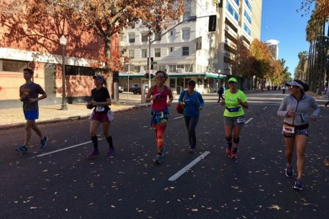 Pitts pushes through California International Marathon