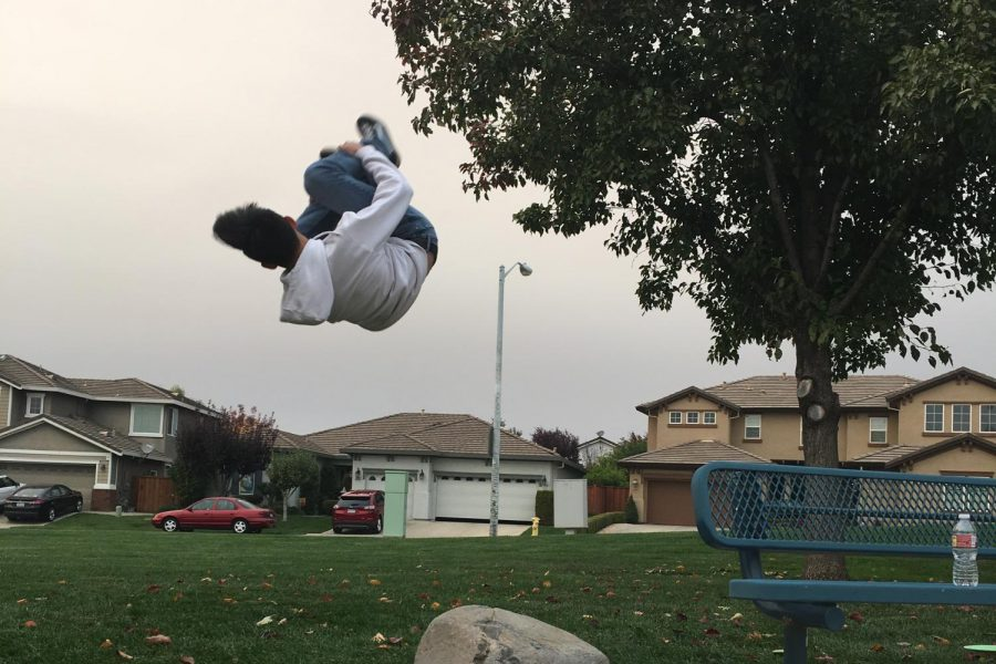 Sophomore+Nathan+Doan+began+parkour+as+a+thirteen+year+old.+Since+then%2C+he%E2%80%99s+progressed+to+practicing+free-running%2C+as+well+as+an+apprenticeship+position+at+his+parkour+training+academy%2C+Free+Flow+Academy.+Within+several+months%2C+Doan+will+graduate+from+the+apprenticeship+course+and+begin+a+payed+job+as+a+coach.