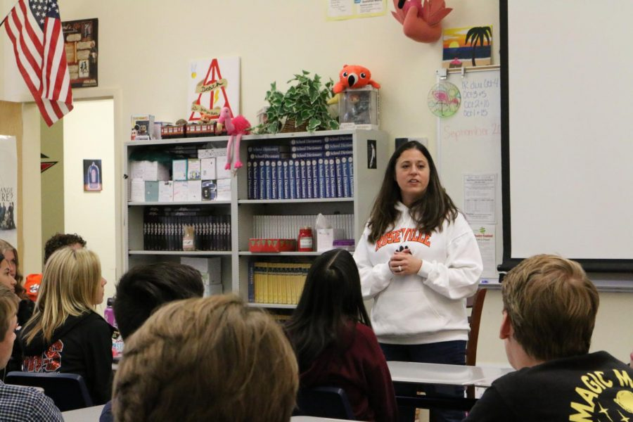 Teacher talks to promote positivity
