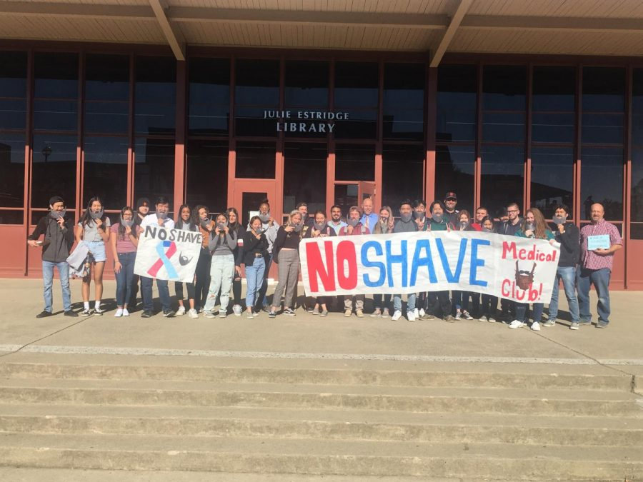 RHS+students+join+medical+club+to+take+photo+for+No+Shave+November.+