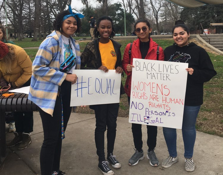 Pictured%2C+members+of+Roseville%E2%80%99s+Black+Student+Union+at+the+Sacramento+%E2%80%9CMarch+For+Our+Youth%E2%80%9D+rally+earlier+this+year.+The+club+meets+every%0AMonday+at+lunch+in+room+606.